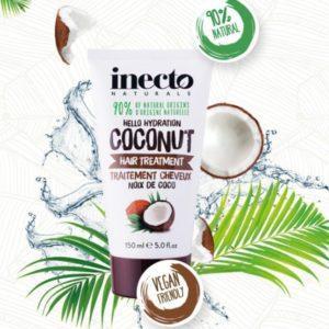 Маска для волос увлажняющая с маслом кокоса Inecto Naturals Coconut Hair Treatment